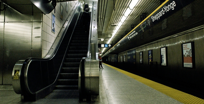Toronto subway. Photo by K